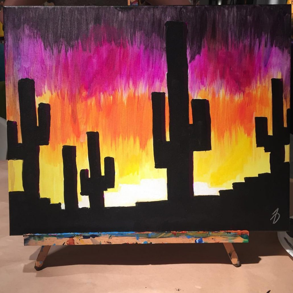 Cactus Sunset By Noah Dyer
