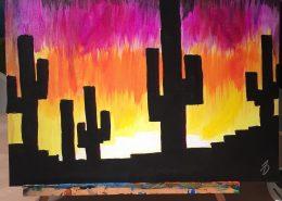 Cactus Sunset by Noah Dyer